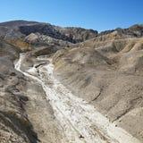 неурожайная долина ландшафта смерти Стоковое Изображение