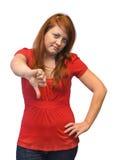 Неудовлетворенная молодая женщина Стоковое Изображение