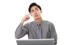 Неудовлетворенный азиатский бизнесмен Стоковое Изображение