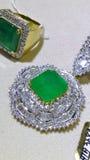 Нефрит и кольца с бриллиантом Стоковое Фото