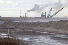 Нефтеносные пески, Альберта, Канада Стоковые Изображения RF