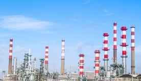 Нефтеперерабатывающая промышленность стоковая фотография rf