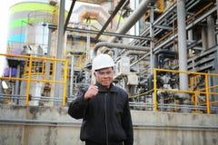 Нефтеперерабатывающее предприятие инженера Стоковое Изображение RF
