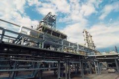 нефтеперерабатывающее предприятие Стоковая Фотография RF
