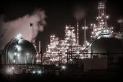 нефтеперерабатывающее предприятие Румыния ночи navodari Стоковые Изображения
