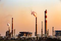 Нефтеперерабатывающие предприятия Стоковое Фото