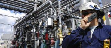 нефтепроводы инженера стоковое изображение