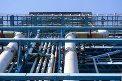Нефтепровод DN800 на высоте в 57m от земли жар-обработан и предусматриван с термоизоляцией стоковые изображения rf