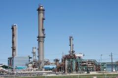 Нефтехимический завод горизонтальный Стоковые Фото