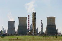 Нефтехимический завод стоковые изображения