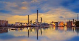 Нефтехимический завод Стоковое Изображение