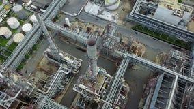 нефтехимический завод 4K на времени дня видеоматериал