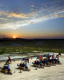 Нефтедобывающая промышленность и природа Стоковое Изображение