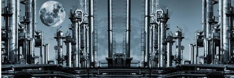 Нефть и газ Ginat панорамная Стоковая Фотография