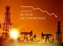 Нефтяная вышка infographic Стоковая Фотография RF