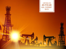 Нефтяная вышка infographic иллюстрация вектора