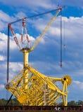 нефтяная платформа извлечения Стоковые Фото