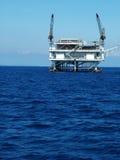 нефтяная платформа конца 2 вверх стоковое изображение rf