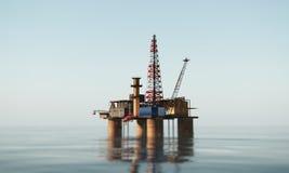Нефтяная платформа стоковое фото rf
