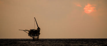 Нефтяная платформа Стоковое Изображение