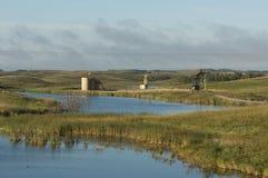 Нефтяная скважина в Северной Дакоте Стоковое Фото