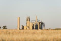 Нефтяная скважина в Северной Дакоте Стоковое Изображение RF