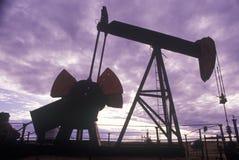 Нефтяная скважина, CA Стоковое Фото