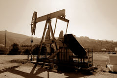 нефтяная скважина california Стоковое Изображение