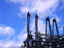 нефтянное месторождение оборудования Стоковые Фото