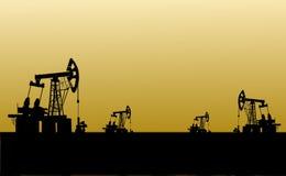 нефтянное месторождение Стоковое Изображение
