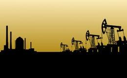 нефтянное месторождение Стоковая Фотография RF
