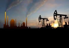 Нефтянное месторождение Стоковые Изображения RF