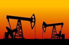 нефтянное месторождение Стоковые Фотографии RF