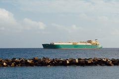 Нефтяное нефтян нефти и газ, транспорт грузового корабля Стоковое Изображение RF