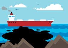 Нефтяное пятно Иллюстрация вектора
