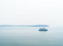 Нефтяной танкер в океане Стоковое Фото