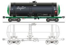 нефтяной танкер газолина автомобиля Стоковое фото RF