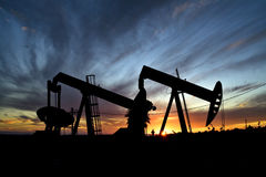 Нефтяные скважины Стоковое фото RF
