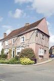 нечестный средневековый дом на угле в lavenham Стоковые Фотографии RF