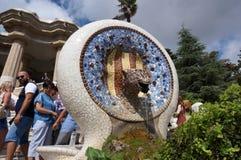 Нечетная архитектура на парке Guell стоковое изображение rf