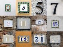 Нечетные номера дома Стоковые Фотографии RF