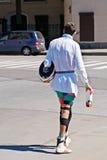 Нечетный человек в городе Стоковое фото RF