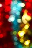 Неясное изображение светов рождества, лоск, красный цвет золота голубой Стоковая Фотография