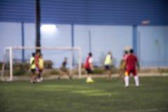 Неясное изображение футбольного поля, стоковое изображение rf