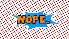 НЕ- анимация стиля воздушных шаров речи слова шуточная иллюстрация штока