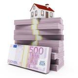 Недвижимость евро Стоковые Изображения RF