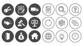Недвижимость, значки аукциона Рукопожатие, для продажи Стоковые Фотографии RF