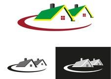Недвижимость расквартировывает логос иллюстрация штока
