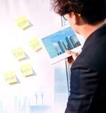 Недвижимость, свойство и бизнес-план стоковое изображение rf
