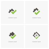 Недвижимость с логотипом контрольной пометки Стоковые Фотографии RF